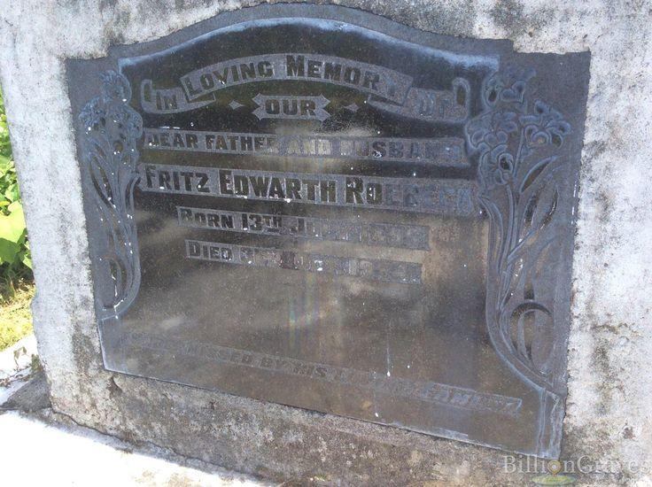 Headstone image of Fritz Edwarth Roebeck
