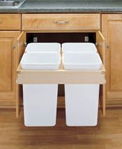 Amazing Quad Top Mount Recycle Center 27 Quart ( By Rev A Shelf
