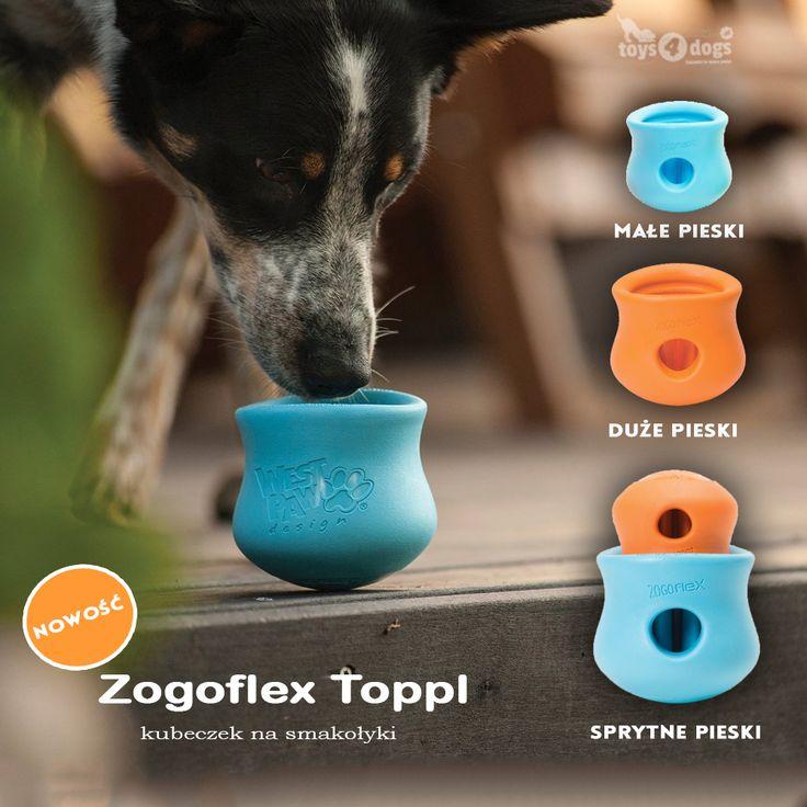Zogoflex Toppl - pomysłowa kieszonka na smaksy. #zabawkadlapsa #toys4dogs