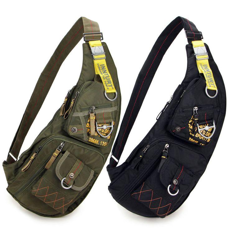 Men Outdoor Travel Sport Chest Messenger Bag Shoulder Bag Hiking Sling Backpack | eBay