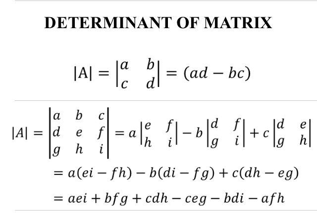 Determinant Of Matrix Matrices Math Studying Math Math Formulas
