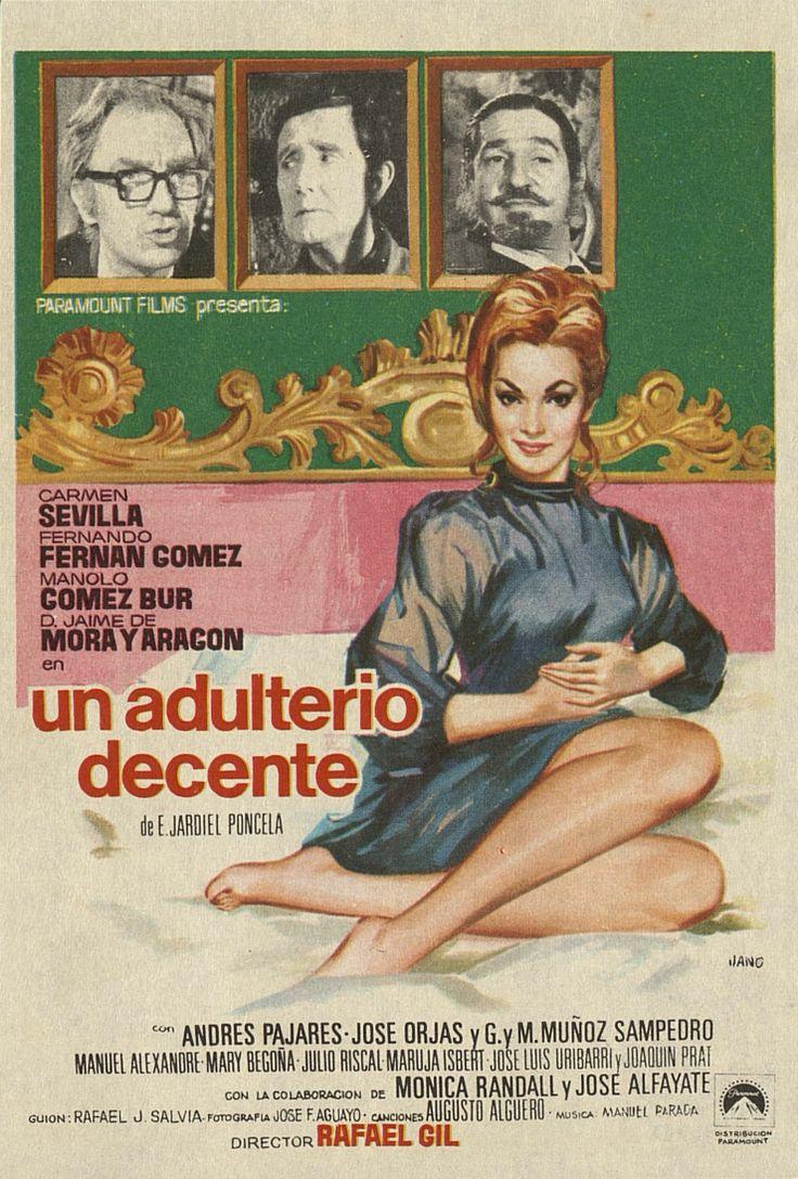 349.     JANO. Un adulterio decente. Dirigida por Rafael Gil. [1969].  #ProgramasdeMano #BbtkULL #CineEspañol #DiadelLibro2014