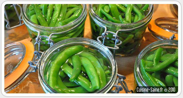 Bocaux de haricots verts  Trop de légumes.... tue le légume !
