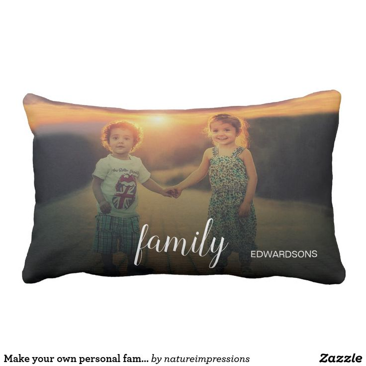 Make your own personal family photo text overlay