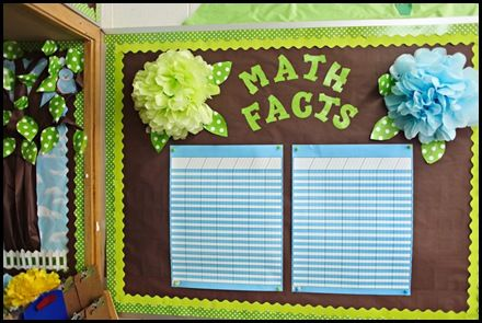 gorgeous blue and green classroom theme ideas - love these giant pom