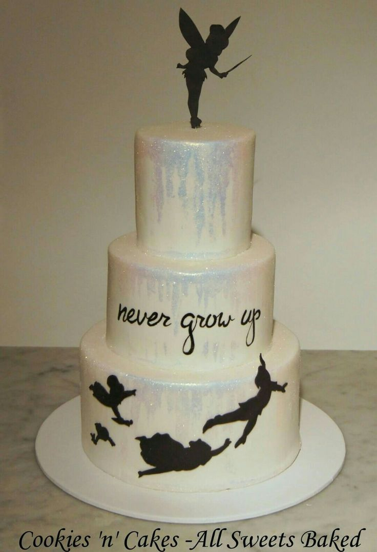 Peter pan cake, Tinkerbell cake,  never grow up, 2 star to the right straight on till morning light, 21st birthday cake.  www.facebook.com/CookiesnCakes.AllSweetsBaked ♡