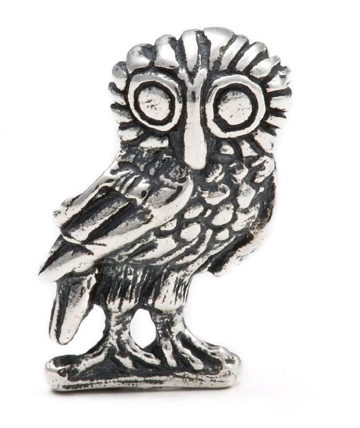 Owl of Wisdom Athena - Handmade in Greece. Sterling Silver 925 - Melina World Jewelry 4008. Handmade in Athens, Greece. Inspired by Greek, Olympic and Mediterranean art, culture and history. Our jewelry fits European brands sharing the same idea, such as Biagi, Chamilia, Pandora and Trollbeads.