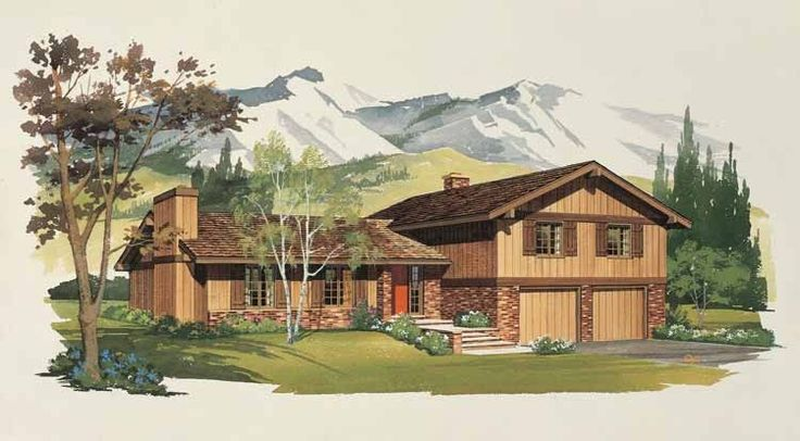 Split Level Style 1 story 4 bedrooms(s) House Plan with 1912 total square feet and 2 Full Bathroom(s) from Dream Home Source House Plans
