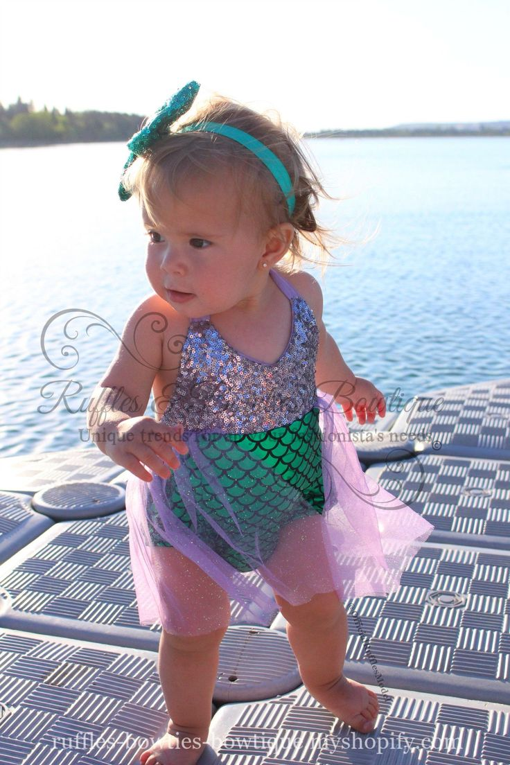 A little glitz and glam for your favorite little mermaid. This romper is absolutely precious with its Lilac sequin top and shimmering mermaid bottoms. A tulle tutu finishes off this romper perfectly!