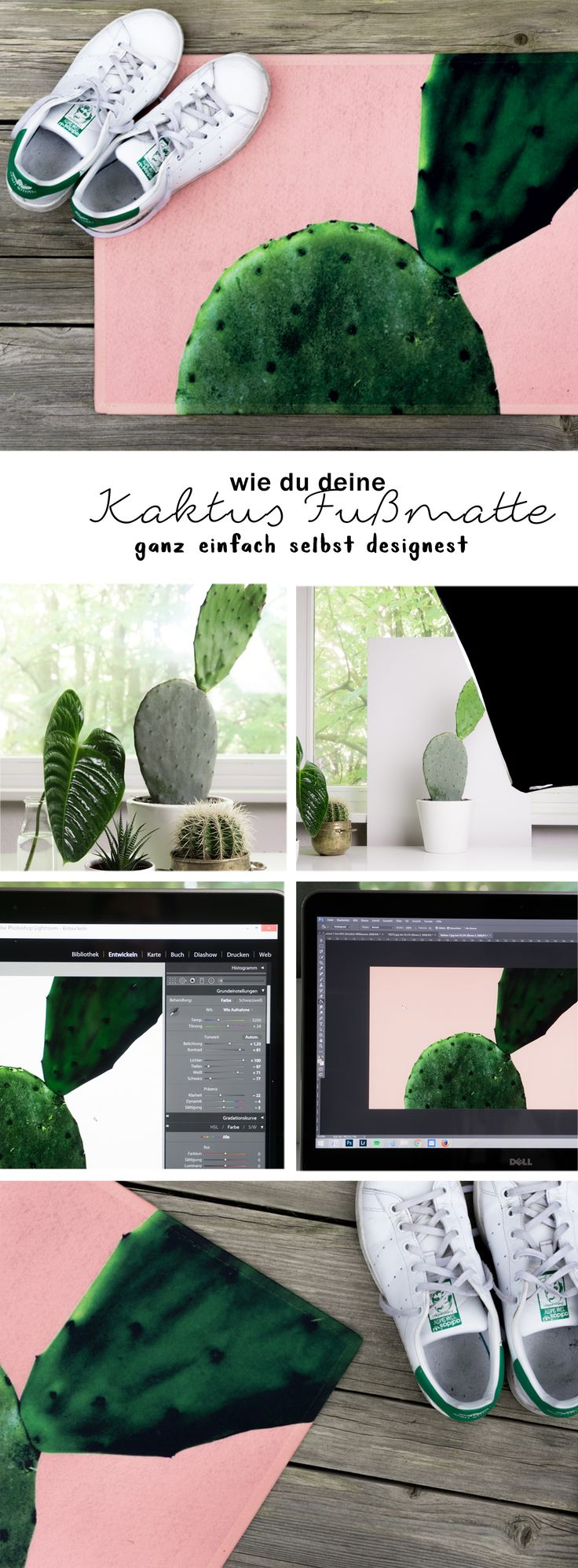 DIY Fußmatte Mit Kaktus U0026 Sommerlicher Farbe Selber Machen: In Meinem  Tutorial Zeige Ich Euch