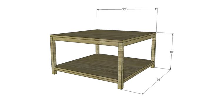 Free Square Coffee Table Plans WoodWorking Projects Plans