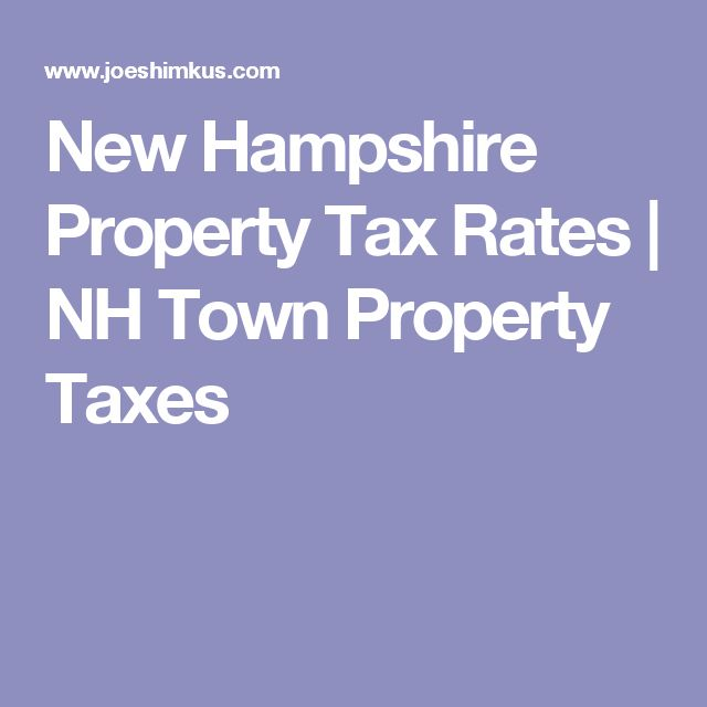 New Hampshire Property Tax Rates | NH Town Property Taxes
