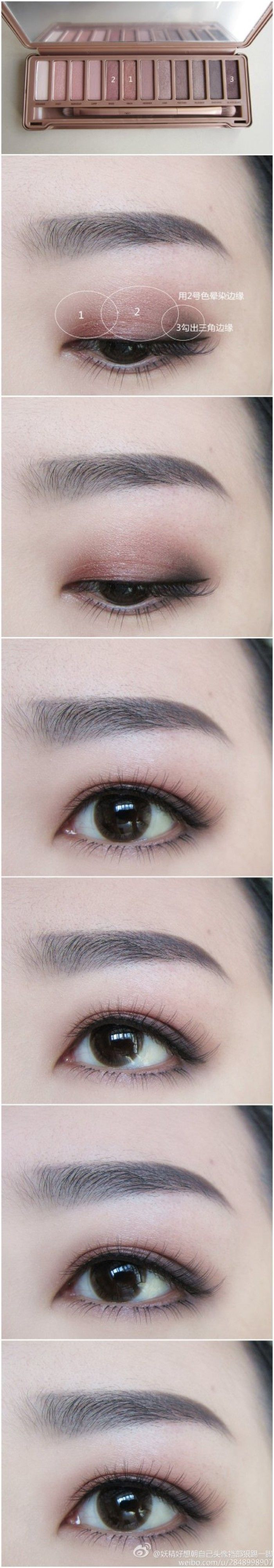 Eye make up ideas with Naked Palette 3.