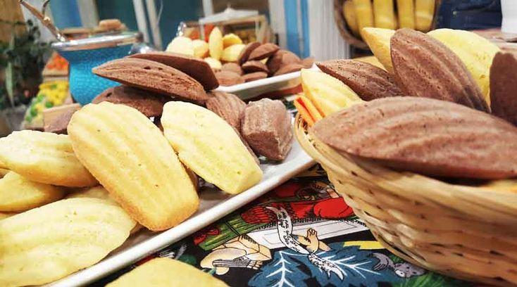 Madeleines de vainilla ba�adas en chocolate