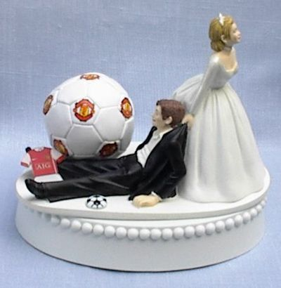 Wedding Cake Topper - Soccer Manchester United Themed  PERFECT!!!!!!!!!!!!!!