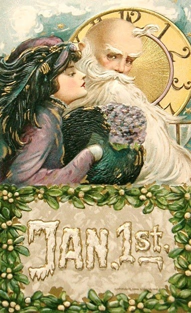 New Year's postcard by Samuel Schmucker & John Winsch publishers | Late 1800's - early 1900's | Paper | Privately held between $40-$100