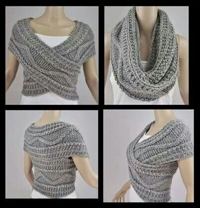 Infinity scarf styling