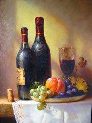 Garrafas de vinho POR Alfredo Gomez