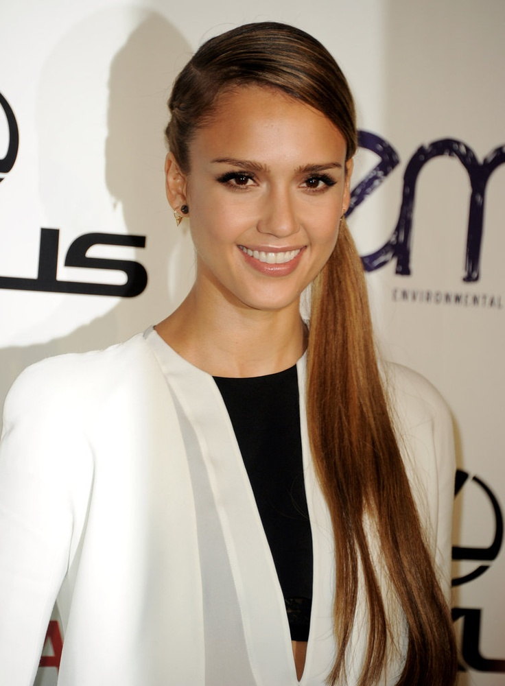 Best 25 jessica alba updo ideas on pinterest jessica alba hair jessica alba and ian somerhalder get honored at emas with star support pmusecretfo Image collections