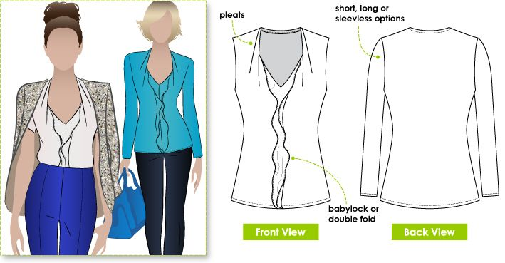 StyleArc  Patsy Top sewing pattern
