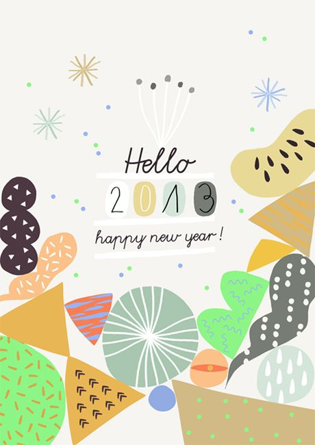 Happy New Year 2013!  Ma+Chr for L'Affiche Moderne -  Free printable card
