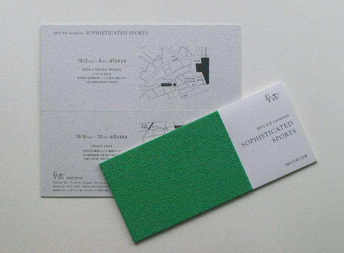 2013 S/S collection インビテーション | 大阪のデザイン会社|G_GRAPHICS INC.