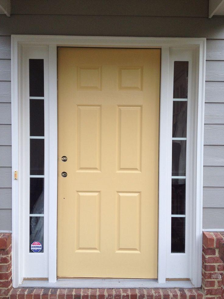 Front Door Re Do With Benjamin Moore S Marblehead Gold