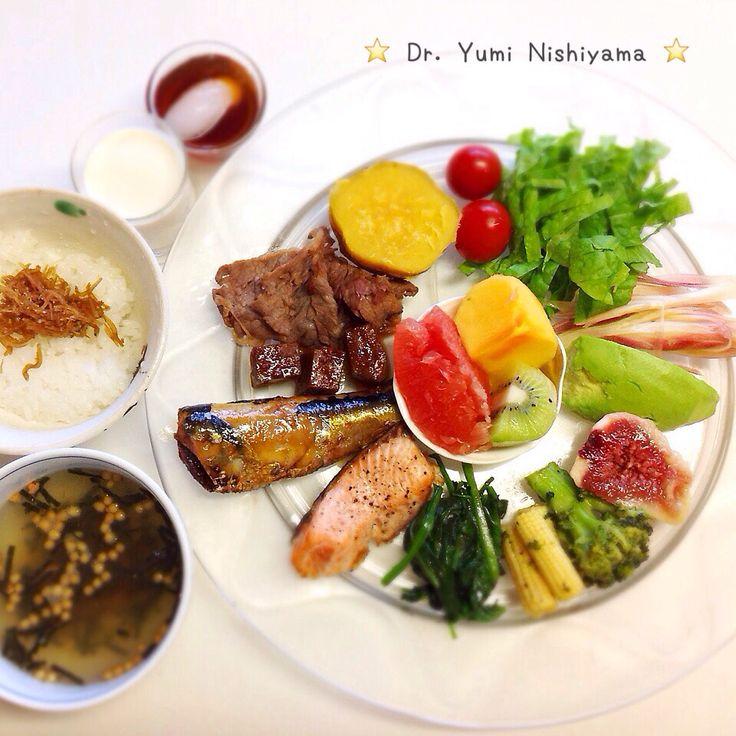 """Dr. Yumi Nishiyama's """"The Original Diet Plate"""" for beauty & health from japanese doctor‼️   2015.10.15「ドクターにしやま由美式ダイエットプレート」:女性医師が栄養バランスを考えた、美味しいプレートのご紹介。    大きめのプレートに、血糖値を急激に上げないように考えた食材を並べ、12時の位置から順番に食べるとても分かり易い方法です。   血糖値を上げないこの食べ方は、身体に優しく栄養補給ができるので健康を維持できます。オリジナルの⭐️西山酵素⭐️も最後に飲みます。   ⭐️美女のスイッチ⭐️⭐️時計周りに食べなさい⭐️の西山由美医師の本もAmazonで購入可。  http://www.momohime-medical.com  #ダイエットプレート #dietplate  #にしやま由美がセミナーも開催 #食べて痩せるプレート #名古屋の女医が考案した #子供の脳育を考えた食事  #血糖値が急上昇しない健康的食事 #時計まわりに食べて美と健康を獲得する…"""