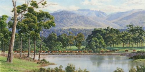 painting tasmanian mountain landscape for sale - Google Search