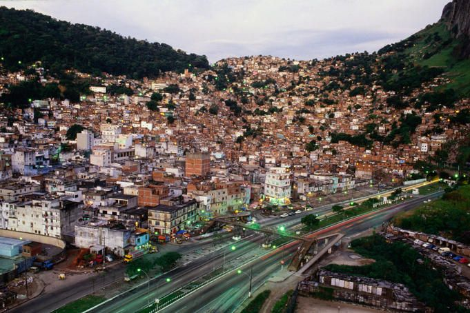Rocinha, Rio de Janeiro  View of Rio's most famous favela, or slum, Rocinha, ironically in one of the wealthiest suburbs.