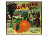 Old Mission Orange Label - Fullerton, CA Planscher av  Lantern Press