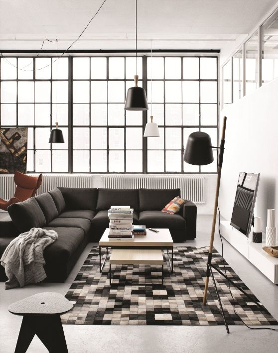 Monochrome Interiors from BoConcept-Sofa - Lamps