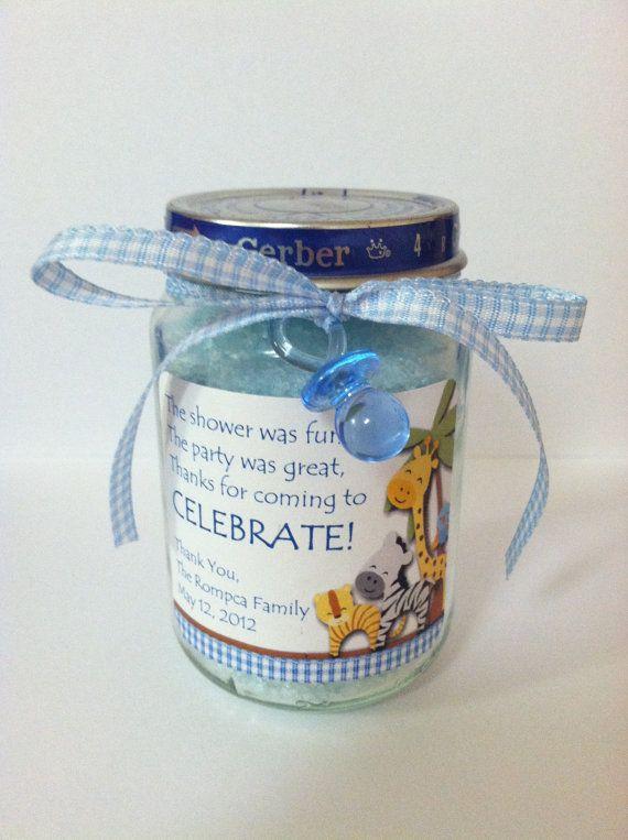 Baby Food Jar Bath Salt Favor by PamperPastriez on Etsy, $4.25