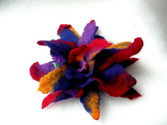 Vilten broche bloem broche broches sieraden voelde door Feltpoint