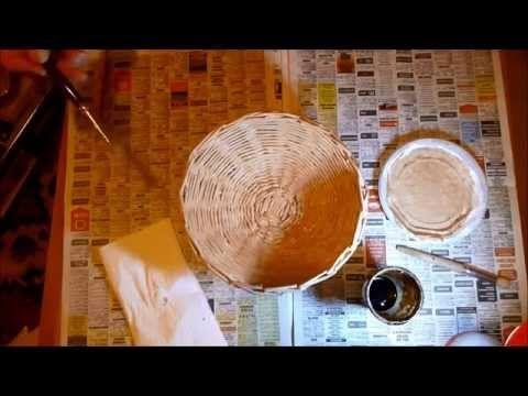 Tutorial Come fare un cestino con le cannucce di carta - YouTube