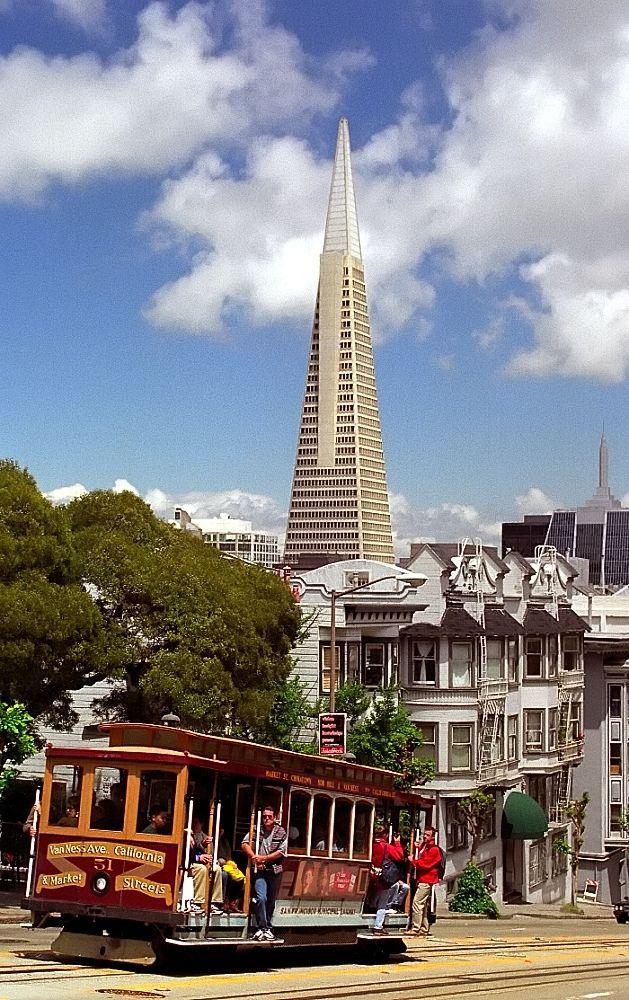 Cable Car & Transamerica Pyramid Building ~ San Francisco ~ California
