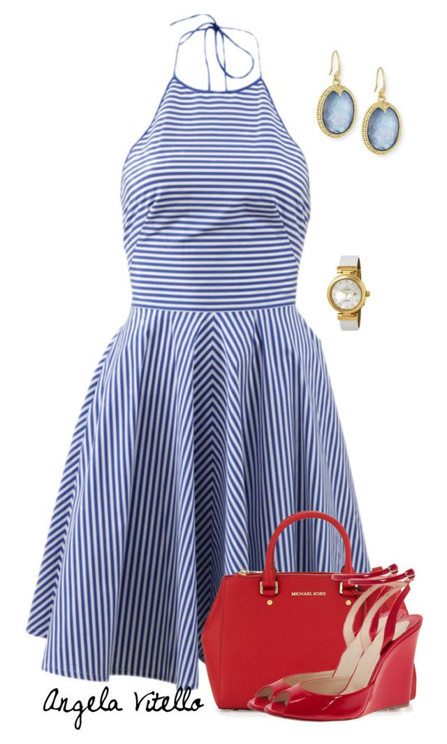 """""""Untitled #562"""" by angela-vitello on Polyvore featuring Michael Kors, MICHAEL Michael Kors, Christian Louboutin, Armenta and OMEGA"""