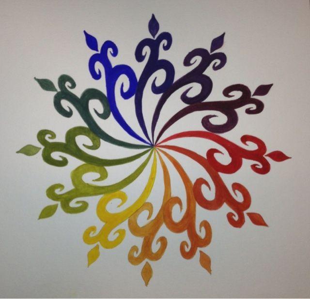 Art Teacher Blog - A Space to Create: Color Wheel Motifs