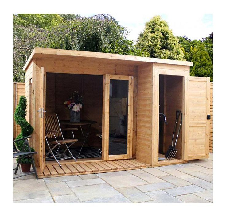Whether you're entertaining guests, reading a newspaper with a morning cup of tea or working outside the Garden Room with Side Shed by Mercia is a great looking room suitable for all. Available in two different sizes the Mercia Garden Room with Side...