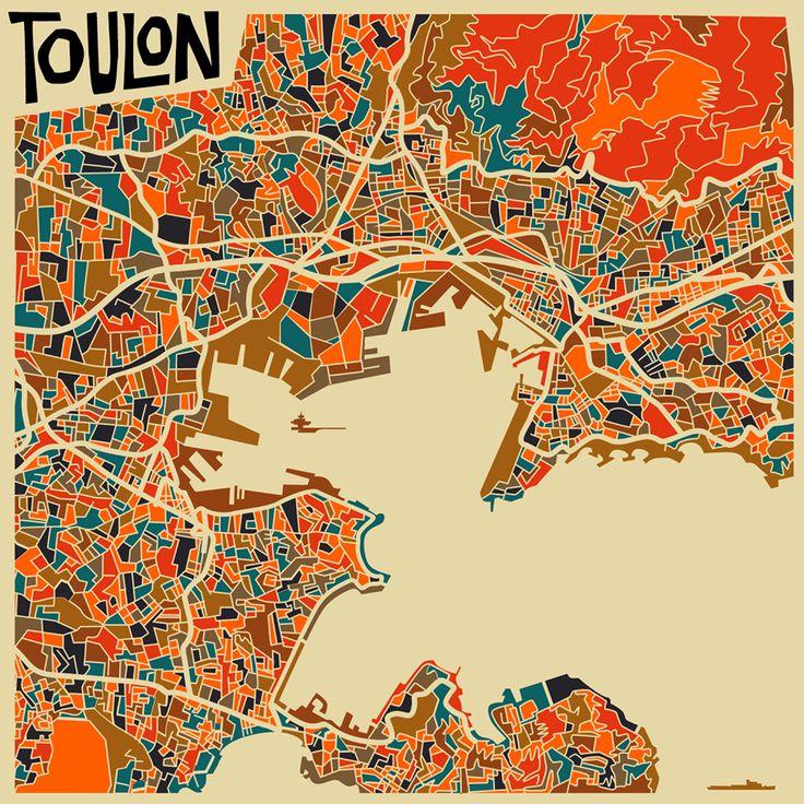 Toulon map /Monsieur.Z #Toulon