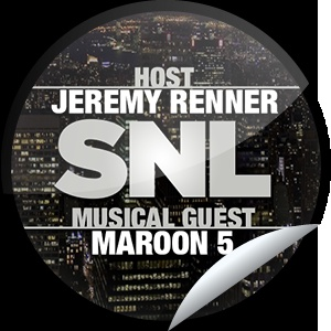 ORIGINALS BY ITALIA's Saturday Night Live: Jeremy Renner and Maroon 5 Sticker | GetGlue