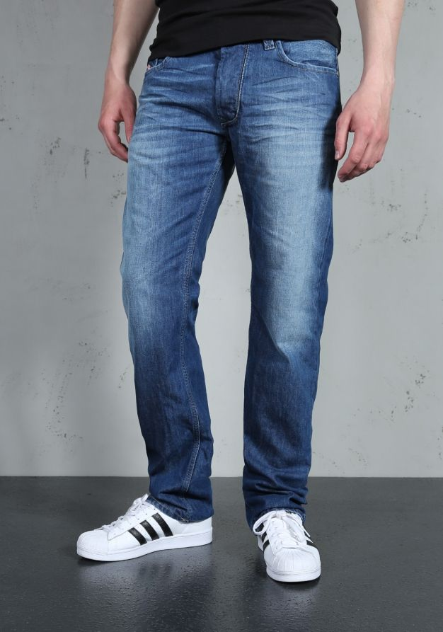 Cost Charm Diesel Mens Waykee 814W Regular Straight Jeans Mens Jeans Buy Jeans for Men COLOUR-dark wash