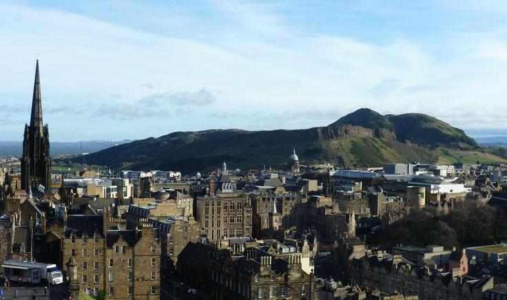 Castle From Arthur's Seat Edinburgh