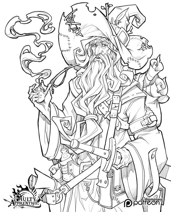 printable coloring pages wisards - photo#35
