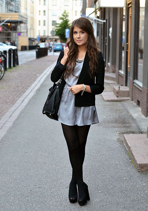 Love the black tights | Clothes | Pinterest | Rompers ...