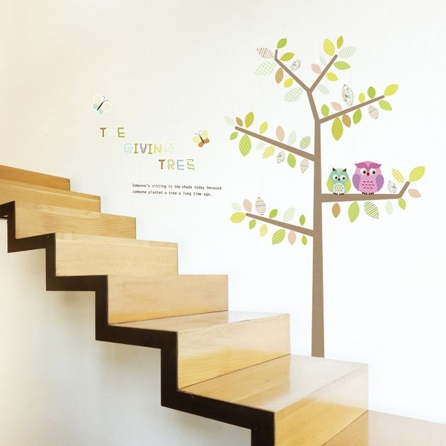 Charmant Ambiance Wall Stickers #9: Animals Wall Decals - Owls And Butterflies On Tree Wall Decals | Ambiance -live.