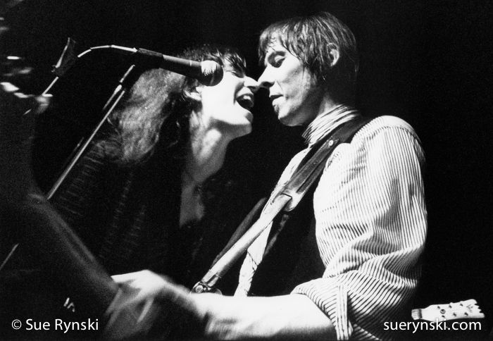 """Patti Smith guesting Fred """"Sonic"""" Smith, Sonic's Rendezvous Band at the New Miami, 1980."""