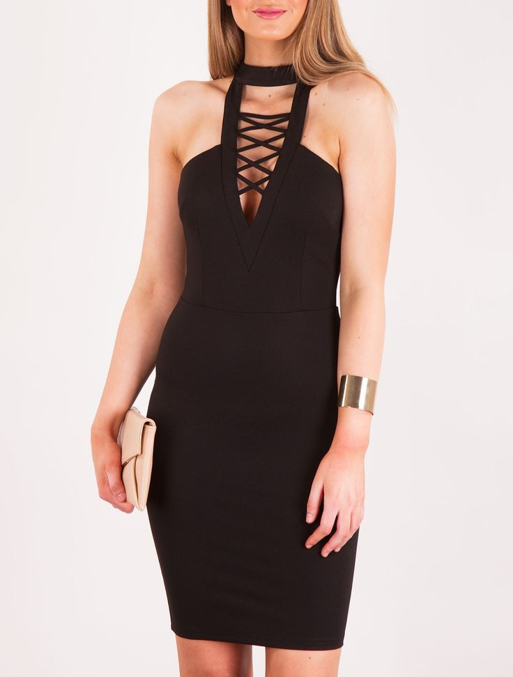 Labina Black Dress Front