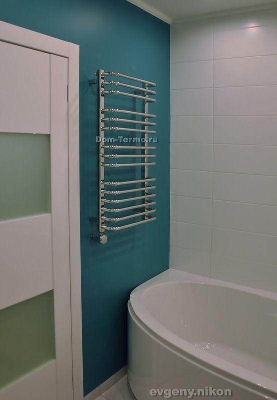 в ванной вместо плитки крашенные стены