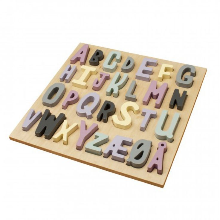 Träpussel ABC